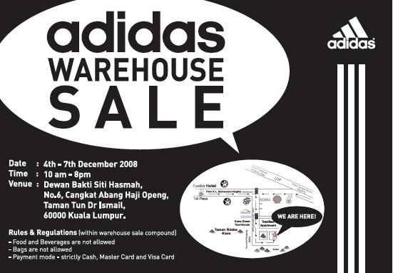 adidas sale warehouse